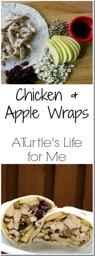 cranberry apple chicken wrap
