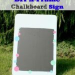 DIY A-Frame Chalkboard Sign