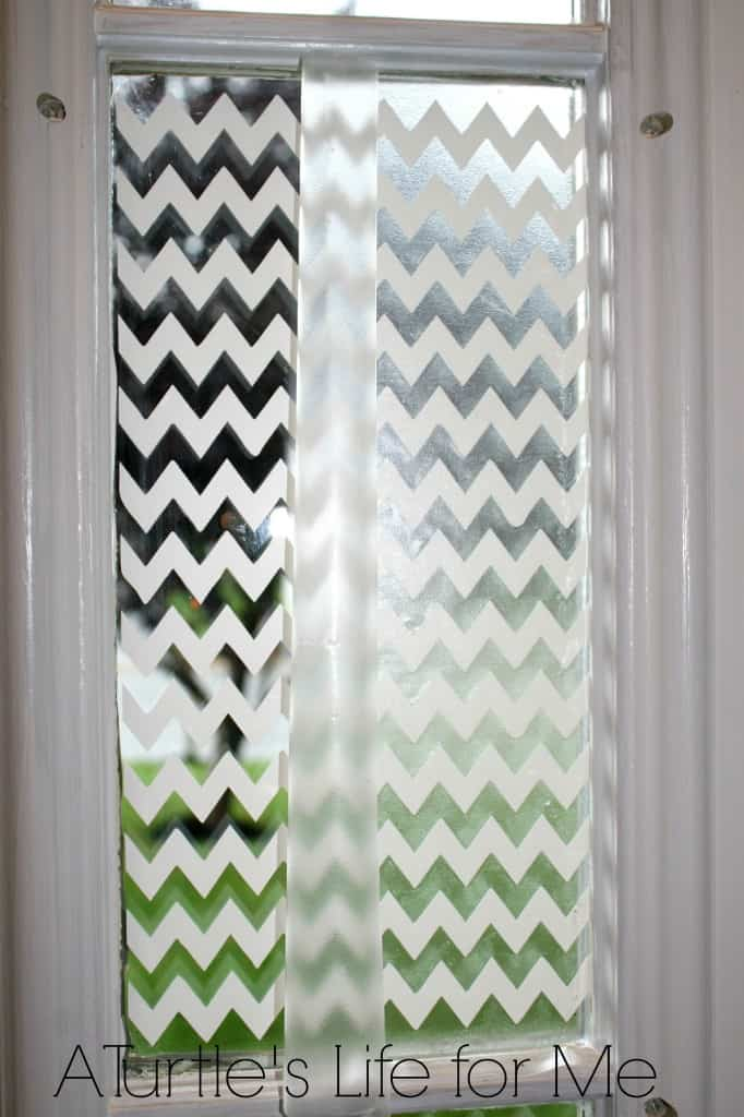 chevron vinyl window silhouette