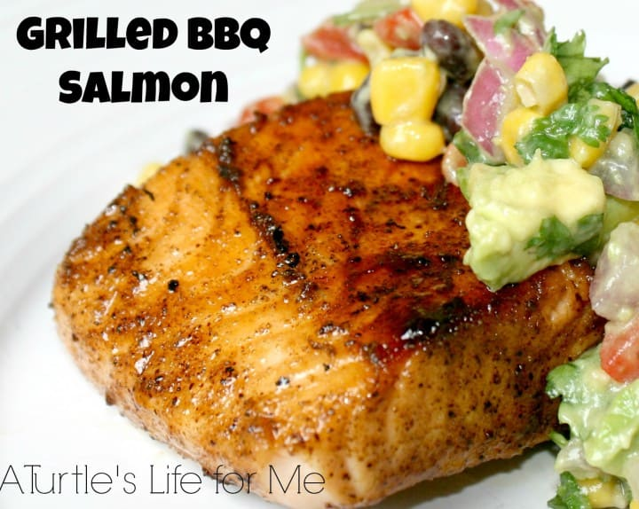 grilled bbq salmon 1corn avocado salad