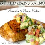 Grilled BBQ Salmon with Avocado & Corn Salsa