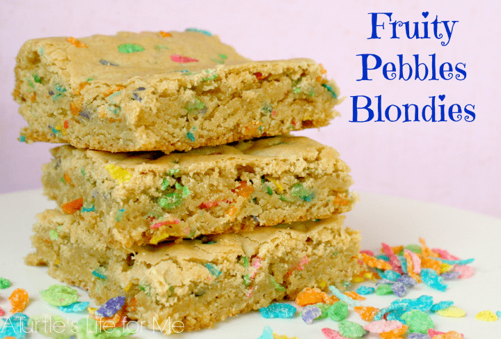 fruity pebbles recipe blondies