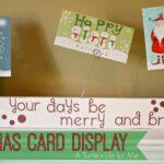 Glitter Photo Christmas Card Holder