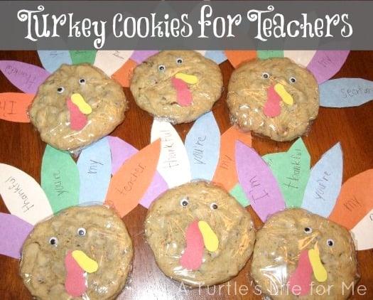 turkey cookies teachers school gifts