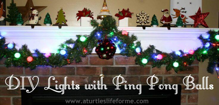 DIY Ping Pong Ball Christmas Lights
