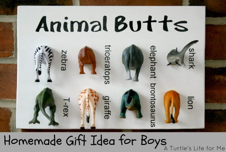 animal specimen art boys gift diy idea