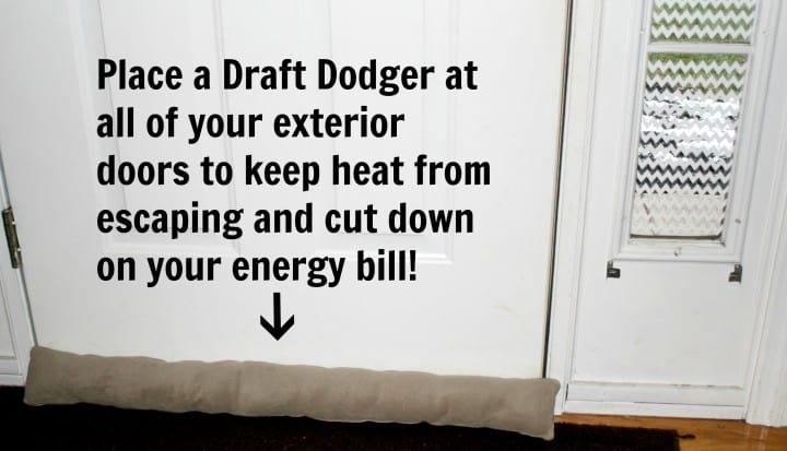 winter weatherization draft dodger