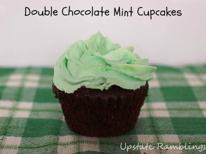 Double Mint Chocolate Cupcakes