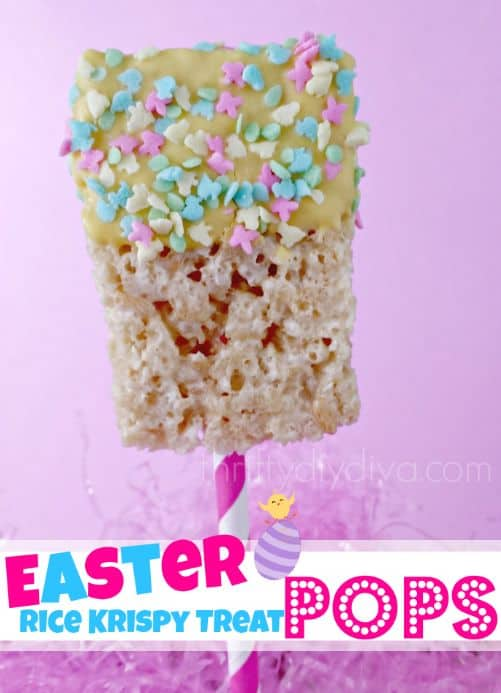 Easter Rice Krispie Treat Pops
