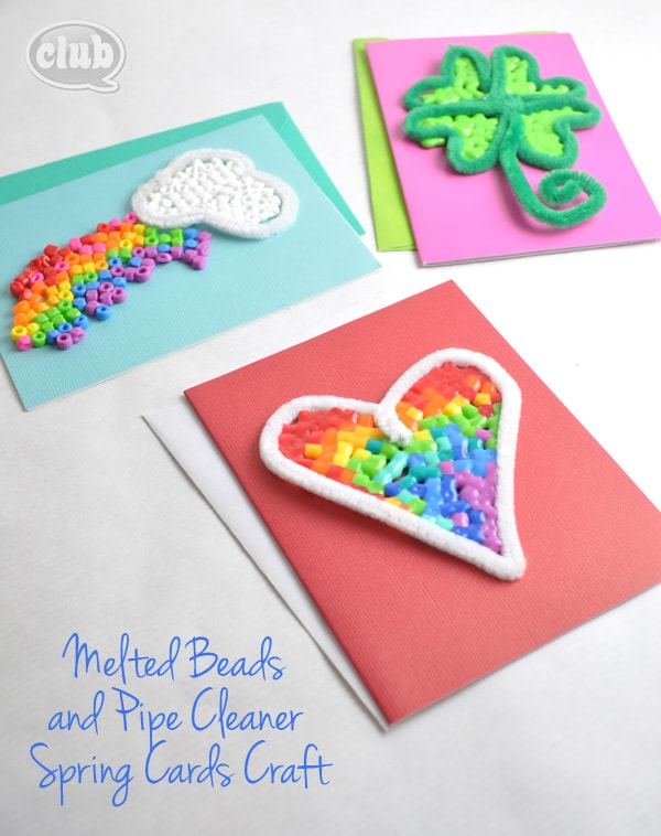 Melted Perler Beads and Pipe Cleaners Craft