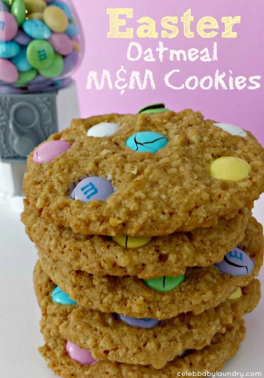 Oatmeal Cookies with Spring MMs