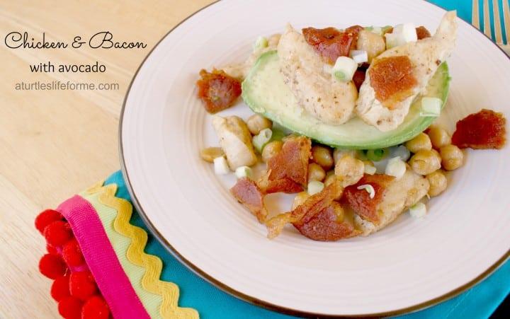 chicken bacon avocado chick peas recipe dinner