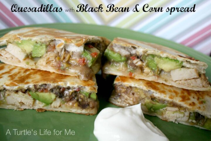 black bean corn quesadillas chicken
