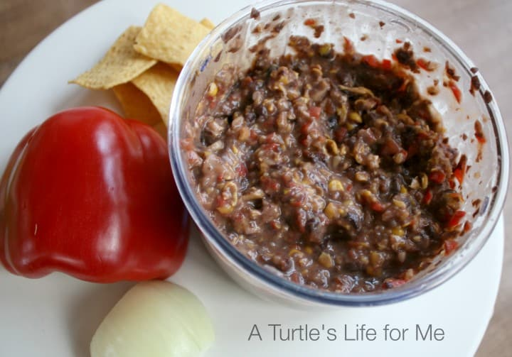 black bean corn salsa spread