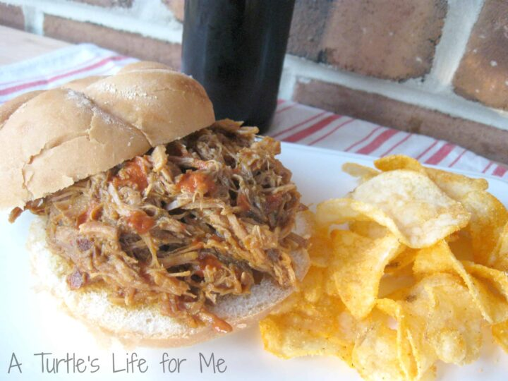pumpkin chipotle pork pulled barbecue sandiwch