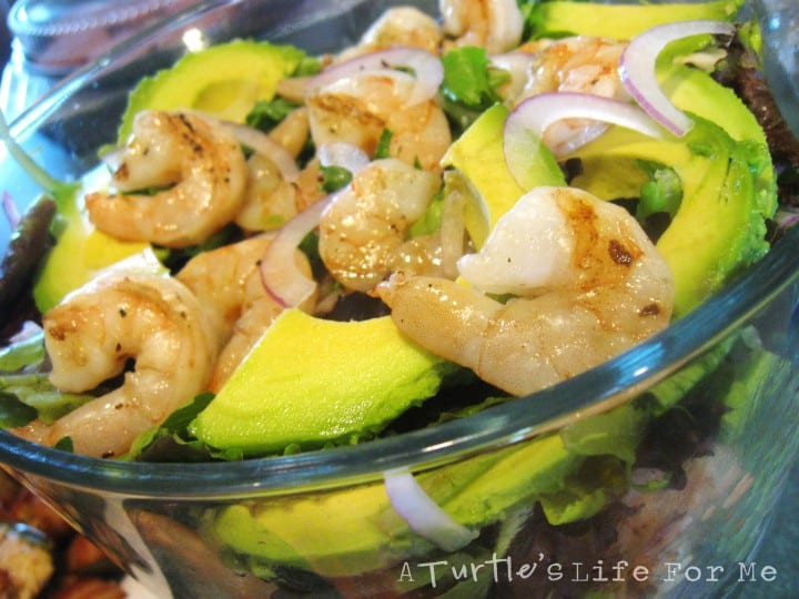 shrimp avocado salad with lime dressing