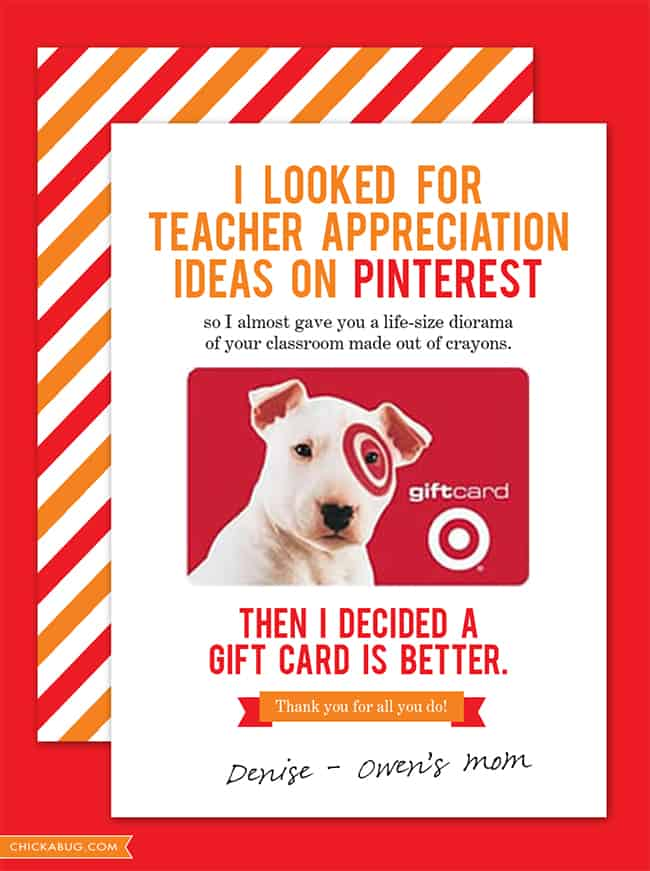Free Teacher Appreciation Cards