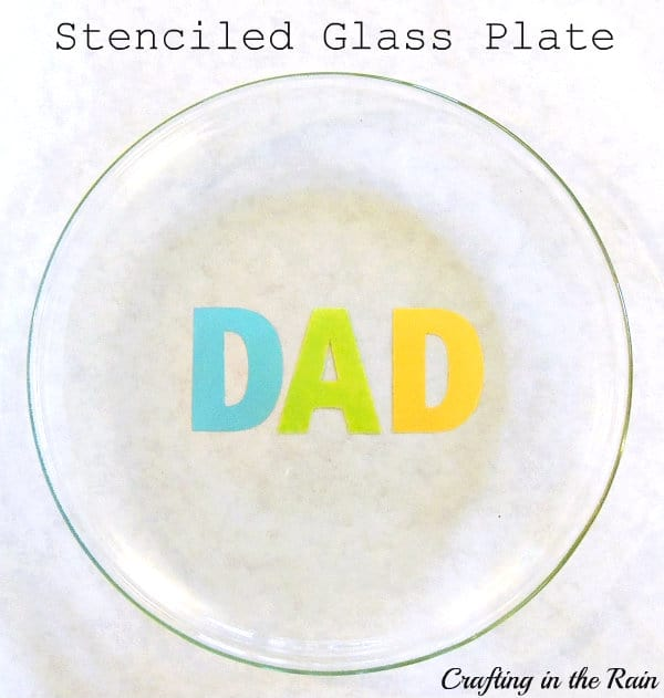 Painted Glass Plate