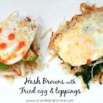 Hash Brown Nests with Fried Eggs