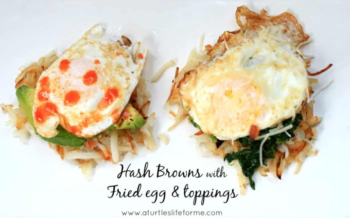 hash browns fried egg avocado spinach