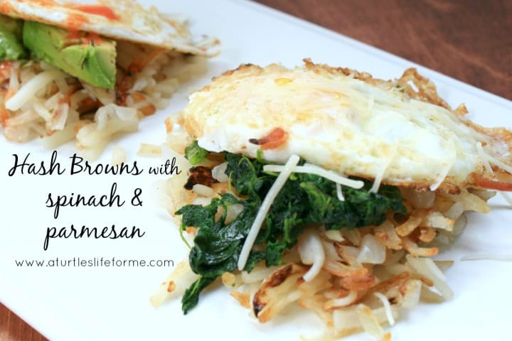 hash browns spinach parmesan