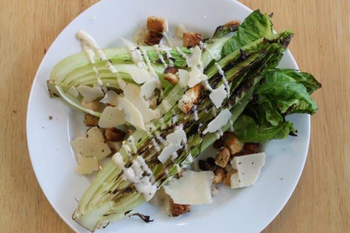 Grilled ceasar salad