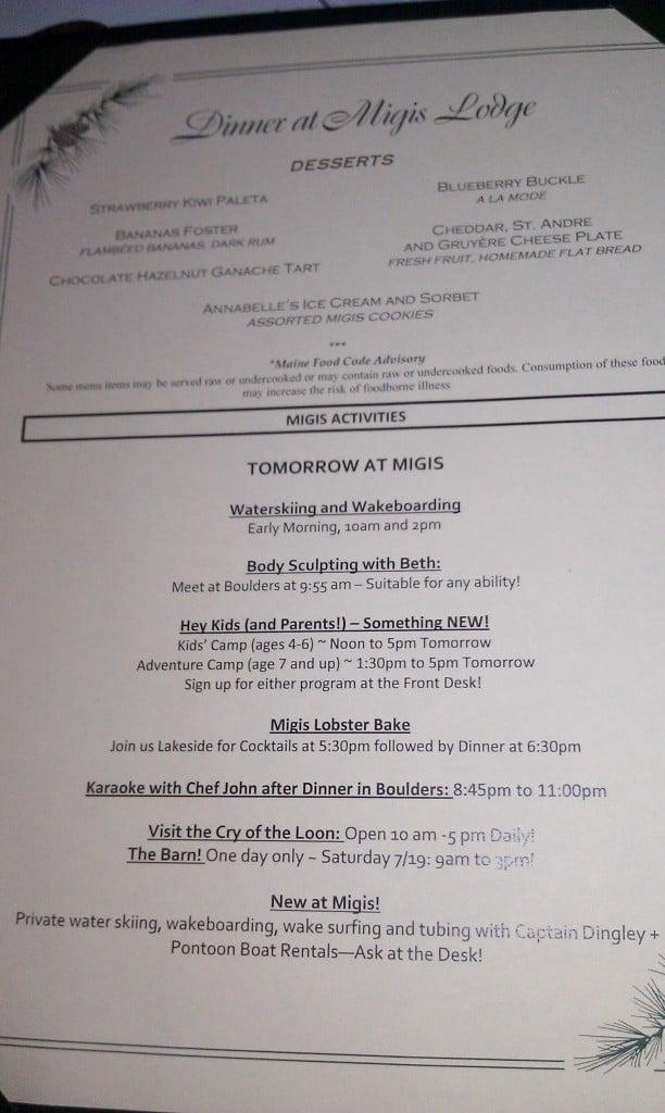 migis food menu