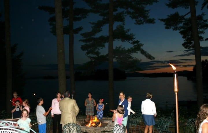 migis lodge bonfire smores night