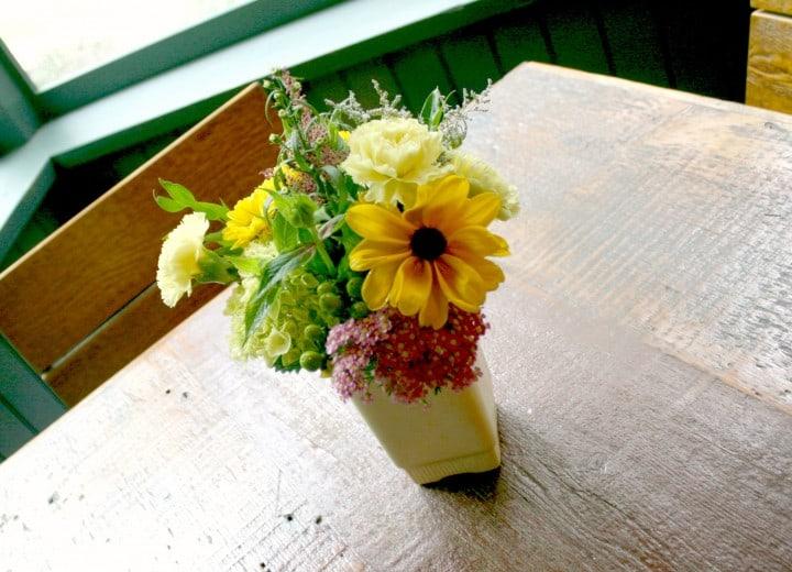 migis lodge fresh flowers cabin cottage
