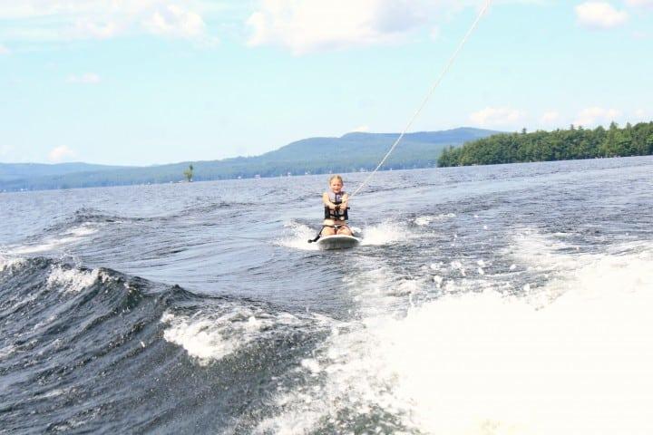 migis lodge kneeboarding lake sebago maine