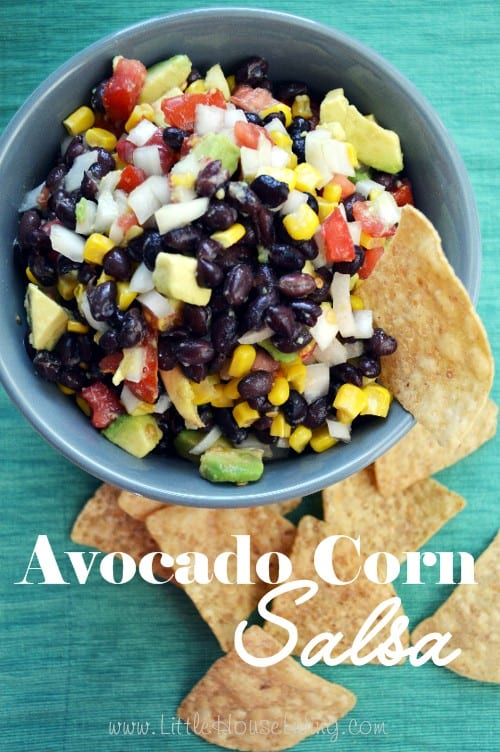 Easy Avocado Corn Salsa