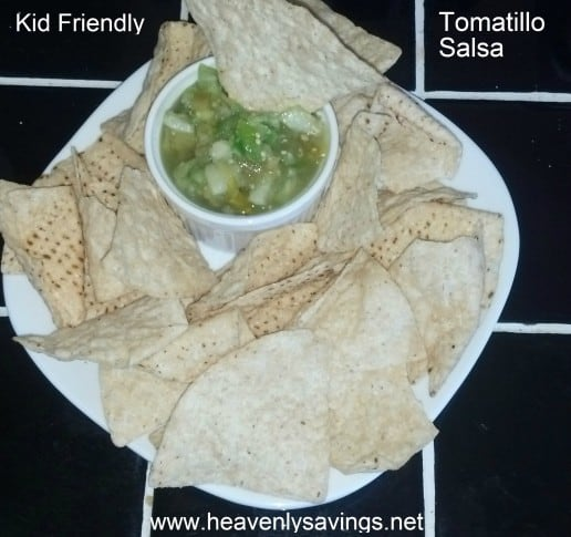 Kid Friendly Tomatillo Salsa