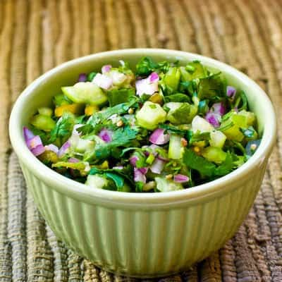 Tomatillo Salsa with Roasted Green Chilies