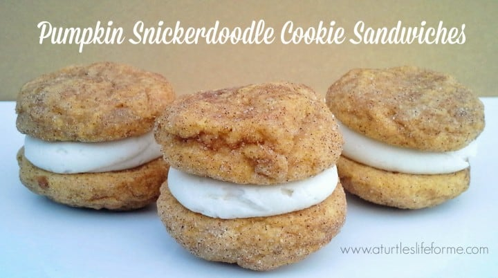 pumpkin snickerdoodle whoopie pies cookie sandwiches recipe