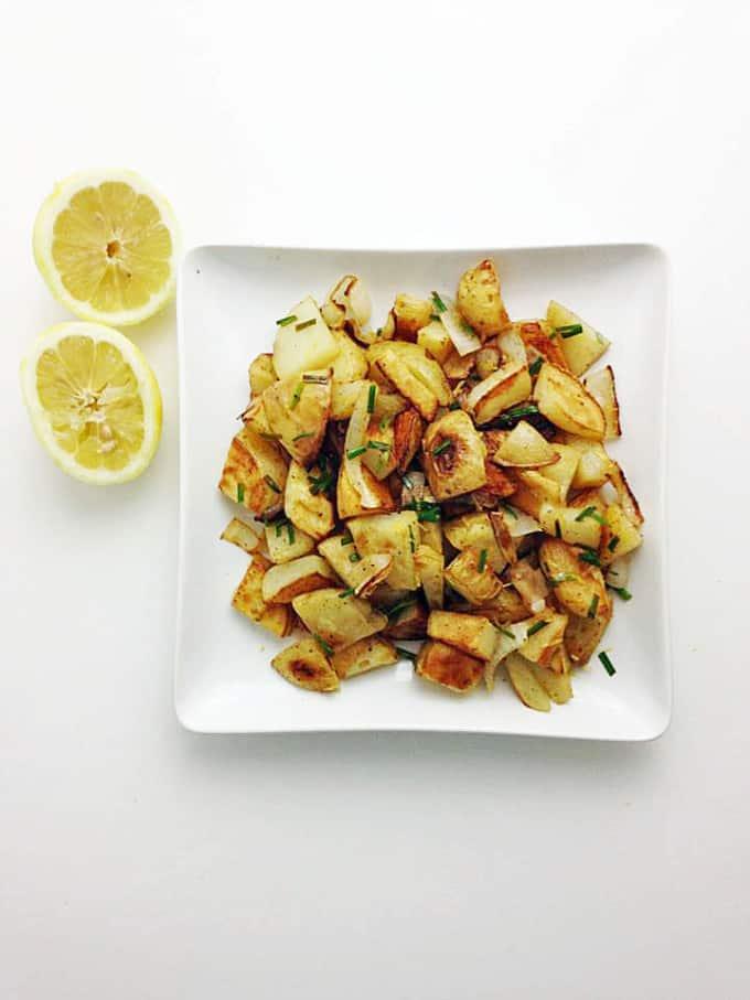 Lemon Chive Potatoes