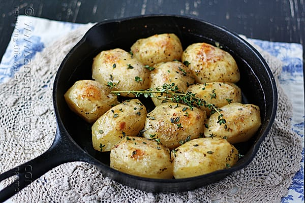 Roasted Potatoes in Cast Iron Skillet
