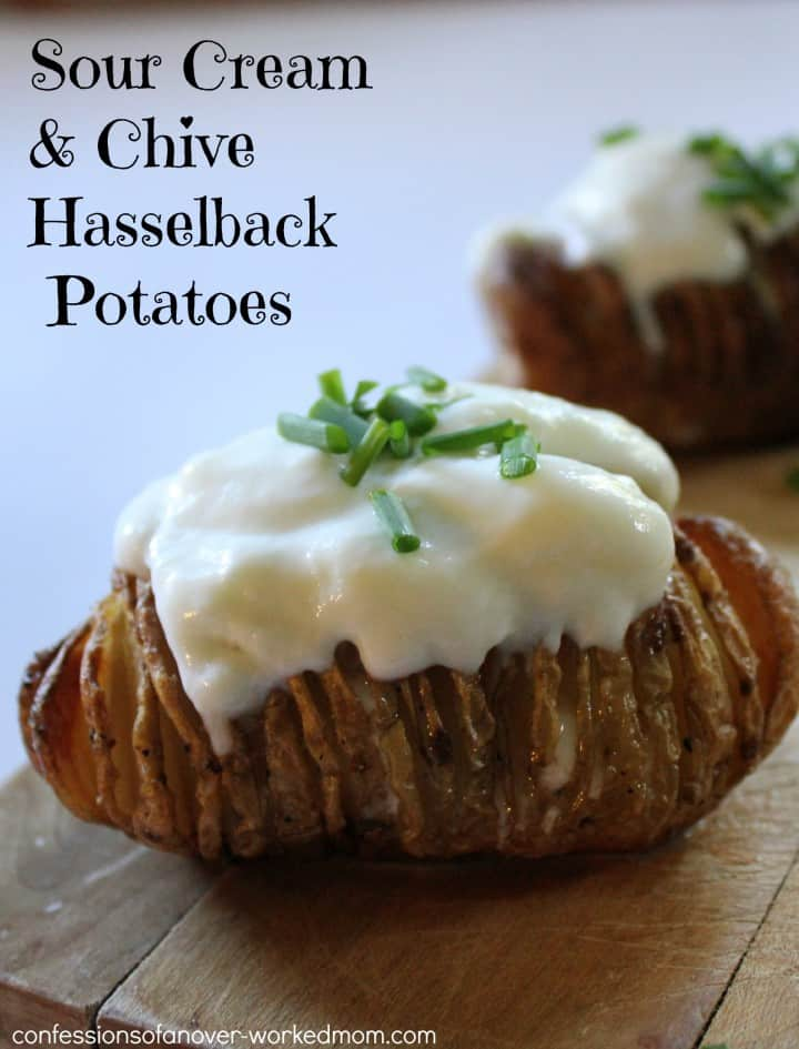 Sour Cream and Chive Hasselback potoatoes