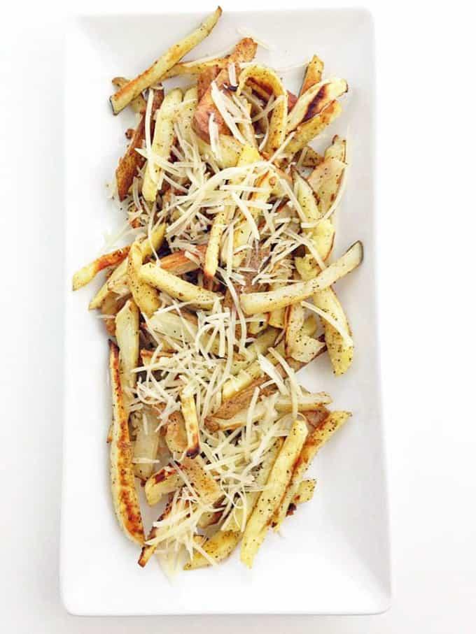 Sweet Russet Potato Garlic Fries