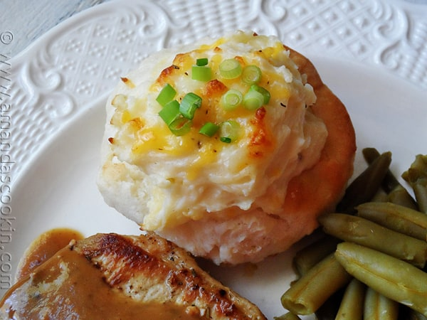 Twice Baked Potato Biscuit Bowls