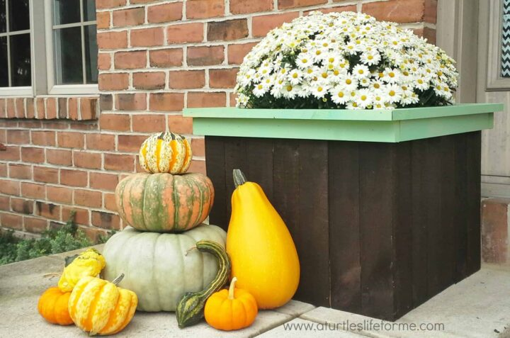fall planter pallets box fall