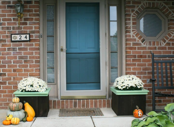 flower boxes front door porch
