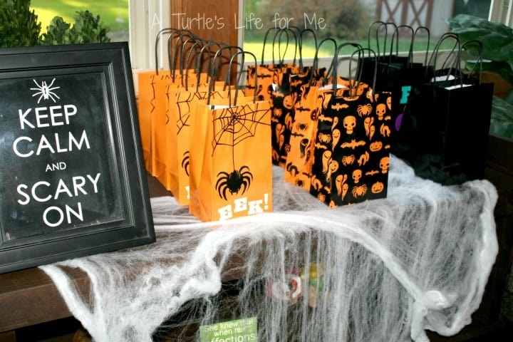 halloween birthday party favor bags wm