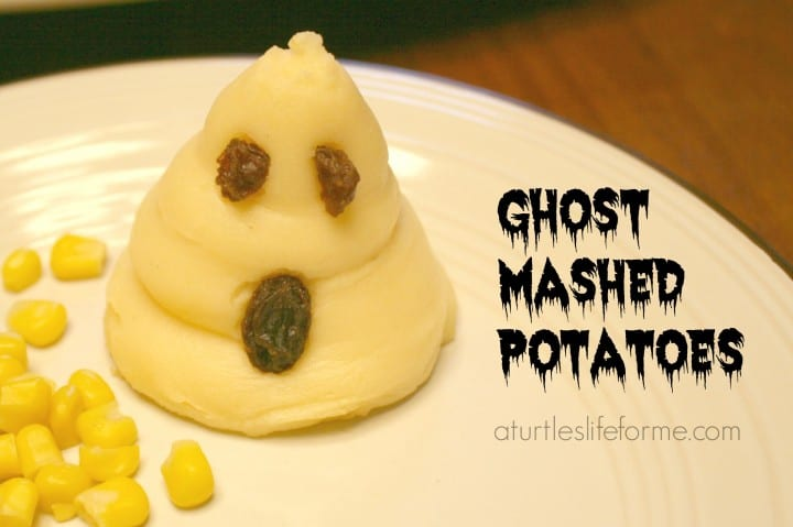 halloween ghost mashed potatoes