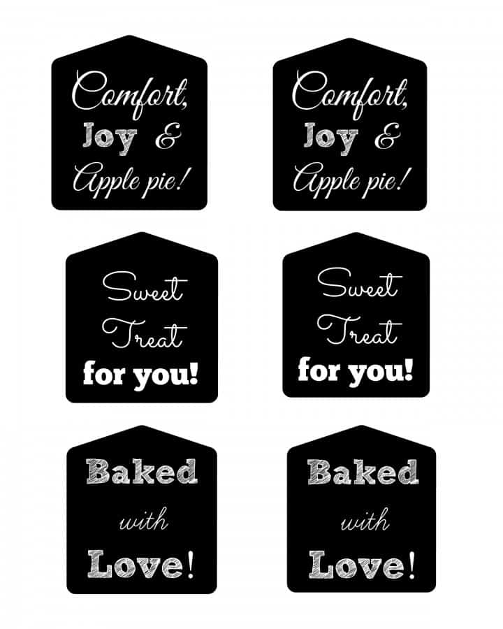printable chalkboard gift tags food free