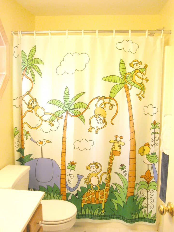kids bathroom jungle shower