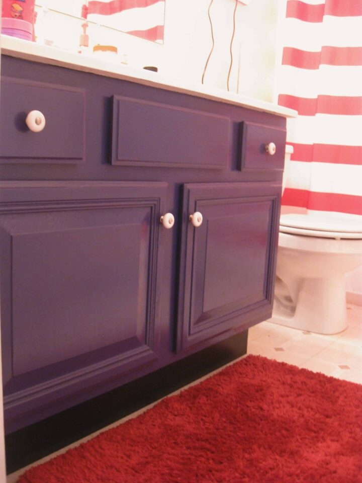 kids bathroom nautical navy vanity