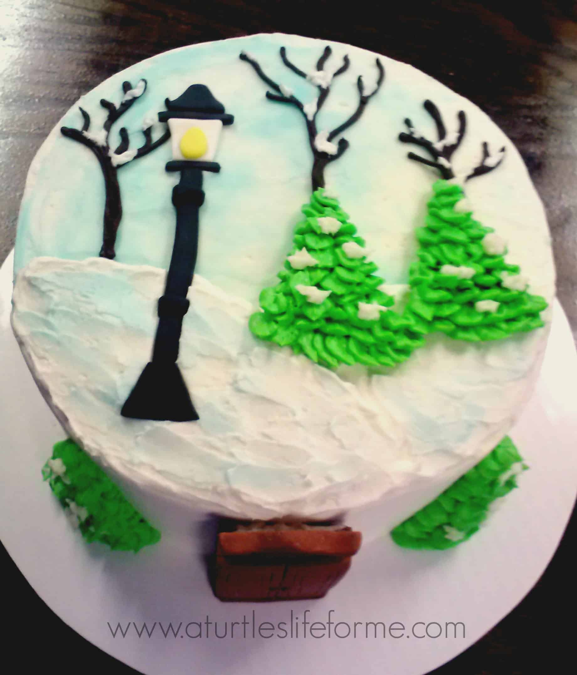 Narnia Inspired Cake Tutorial A Turtle S Life For Me