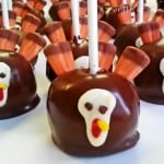 Turkey Cake Pops for Thanksgiving