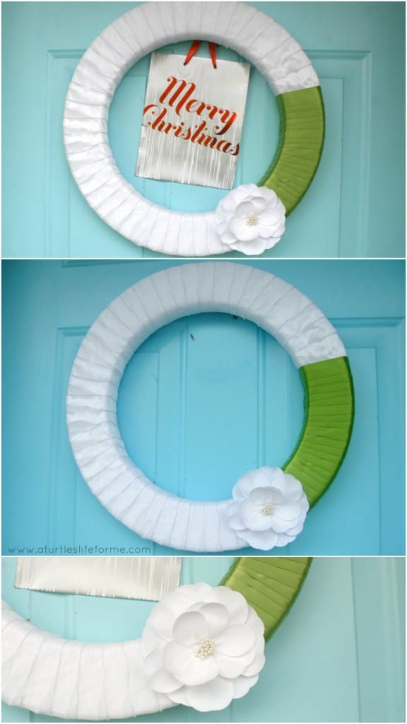 Holiday wreath to everyday wreath