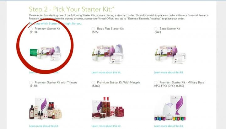Young Living - Sign-Up - Premium Starter Kit